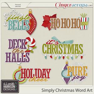 Simply Christmas Word Art by Aimee Harrison