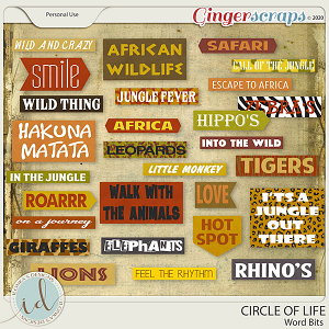 Circle Of Life Word Bits by Ilonka's Designs
