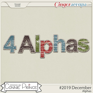 #2019 December - Alpha Pack AddOn by Connie Prince