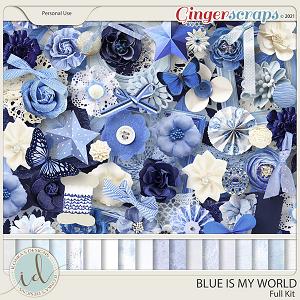 Blue Is My World Full Kit by Ilonka's Designs