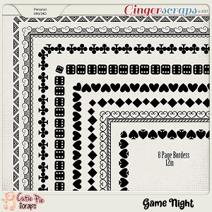 Game Night Page Borders
