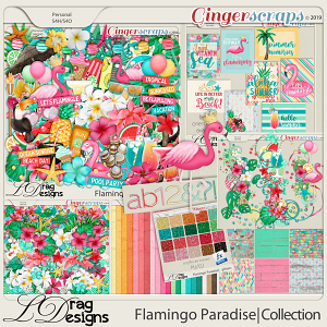 Flamingo Paradise: The Collection by LDragDesigns