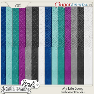 My Life Song - Embossed Papers
