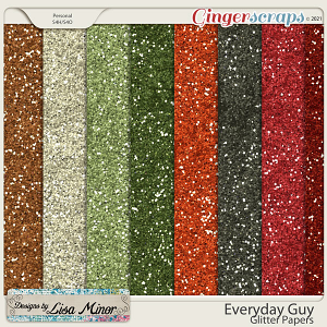 Everyday Guy Glitter Papers from Designs by Lisa Minor