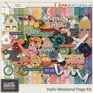 Hello Weekend Page Kit by Aimee Harrison