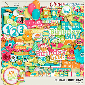 Summer Birthday Page Kit by JB Studio (FWP enclosed)