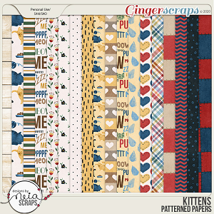 Kittens - Patterned Papers - by Neia Scraps