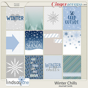 Winter Chills Journal Cards by Lindsay Jane