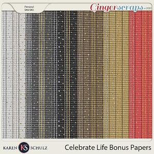 Celebrate Life Bonus Papers by Karen Schulz