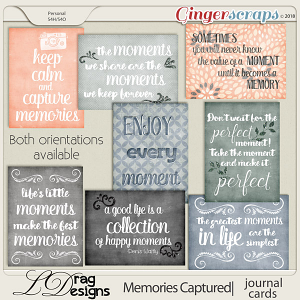 Memories Captured: Journal Cards by LDragDesigns