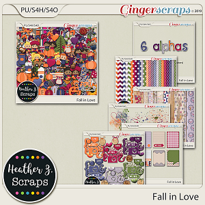 Fall in Love BUNDLE by Heather Z Scraps