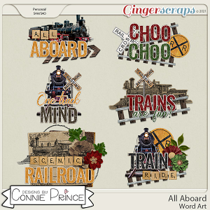 All Aboard  - Word Art Pack by Connie Prince