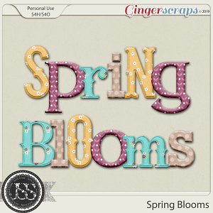 Spring Blooms Alphabets