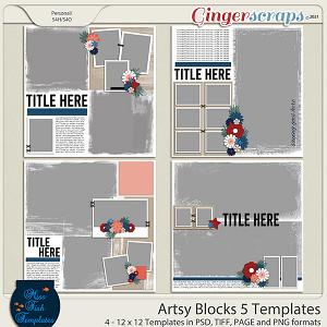 Artsy Blocks 5 Templates by Miss Fish