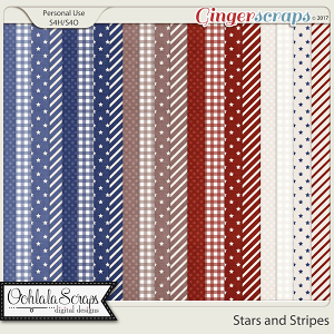 Stars and Stripes Pattern Papers