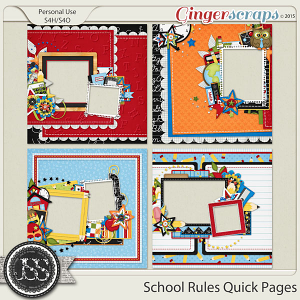School Rules Quick Pages