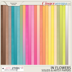 In Flowers - Solid Papers - by Neia Scraps