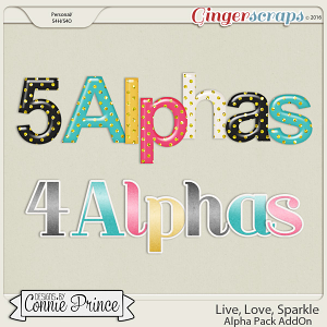 Live, Love, Sparkle - Alpha Pack AddOn