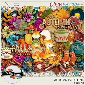 Autumn is Calling - Page Kit by Lisa Rosa Designs