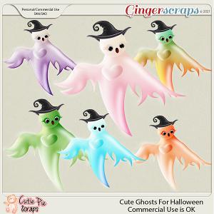 CU Cute Ghosts For Halloween