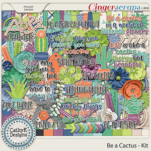 Be a Cactus - Kit by CathyK Designs