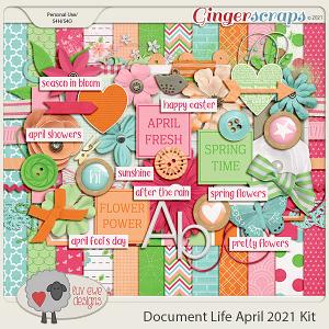 Document Life April 2021 Kit by Luv Ewe Designs