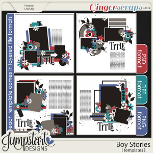 Boy Stories {Templates} by Jumpstart Designs