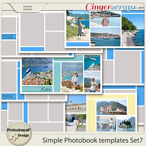 Simple Photobook templates Set 7