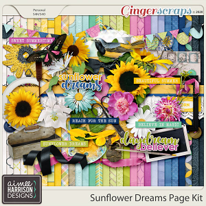 Sunflower Dreams Page Kit by Aimee Harrison