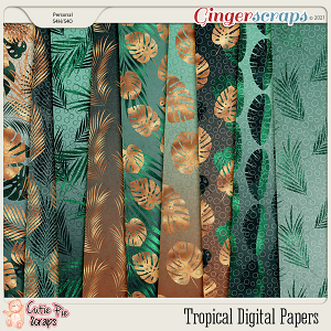 Tropical Gold Papers Pack