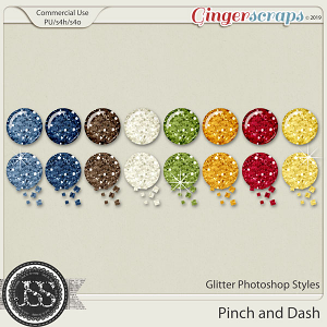A Pinch and A Dash Glitter CU Photoshop Styles