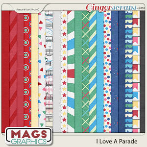 I Love A Parade PAPERS by MagsGraphics