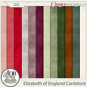 Elizabeth Cardstock Papers {DOTW England} by ADB Designs