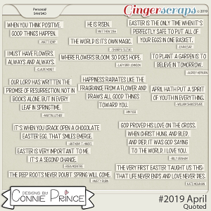 #2019 April - Quoted Pack by Connie Prince