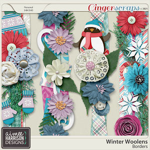Winter Woolens Borders by Aimee Harrison