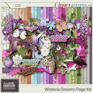 Wisteria Dreams Page Kit by Aimee Harrison