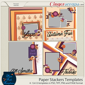 Paper Stackers Templates by Miss Fish