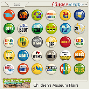 Children's Museum Flairs by Clever Monkey Graphics