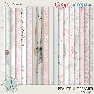 Beautiful Dreamer Paper Pack by Ilonka's Designs