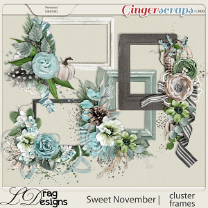 Sweet November: Cluster Frames by LDragDesigns