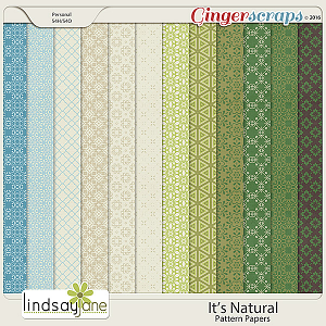 Its Natural Pattern Papers by Lindsay Jane
