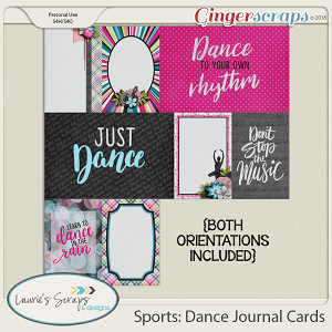 Sports: Dance Journal Cards
