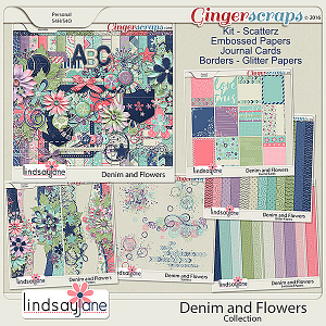 Denim and Flowers Collection by Lindsay Jane