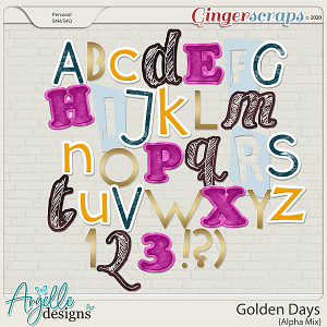 Golden Days Alpha Mix by Angelle Designs