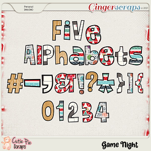 Game Night Alphabets