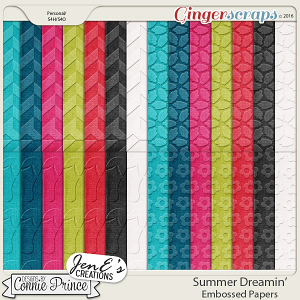 Summer Dreamin' - Embossed Papers