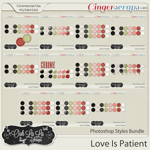 Love Is Patient CU Photoshop Styles Bundle