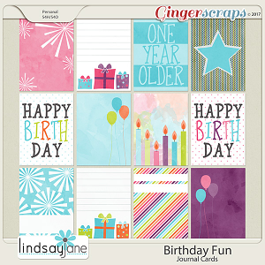 Birthday Fun Journal Cards by Lindsay Jane