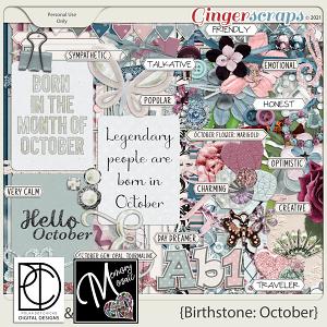 Birthstone: October by Polka Dot Chicks & Memory Mosaic