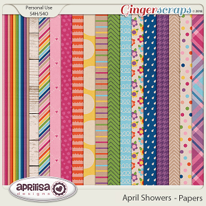 April Showers - Papers by Aprilisa Designs